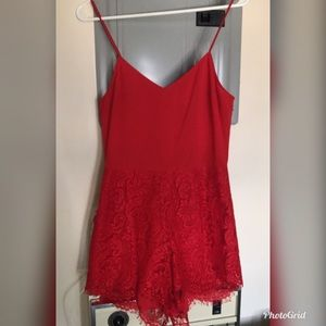 Red jumpsuit ❤️great condition